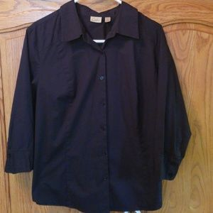 Carlson Black 2X Button down 3/4 shirt